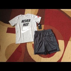 Boy's Nike shorts outfit NWT size 7
